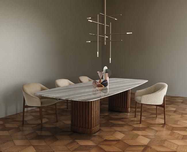 アルフレックス テーブル DORICO、チェア NINA