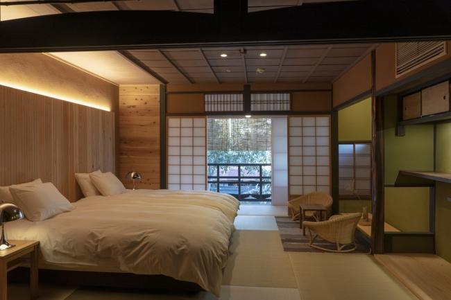 大津市にある「商店街ホテル講大津百町」一棟貸しタイプのホテルがメインで7棟ある