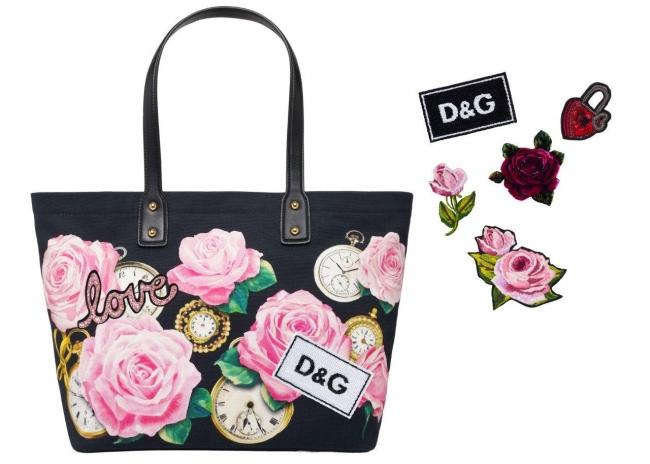 (C)Dolce&Gabbana パッチによってカスタマイズできるトートバッグ ¥99,000 パッチ(別売り)¥8,100~