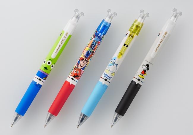『ユニボール RE 3 ディズニー&ディズニー/ピクサーシリーズ』 左から:ALフェイス、TSフェイス、DNバック、MCグレー