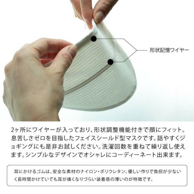 息苦しくない抗菌マスク/ワイヤー内包