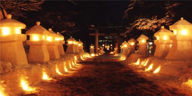 上杉雪灯籠まつり(2月第2土曜・日曜・松が岬公園)