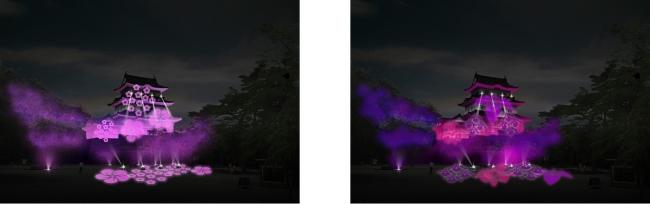 左イメージ(梅)                                      右イメージ(紫陽花)