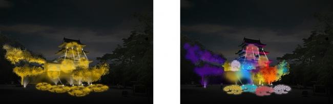 左イメージ(菊)                                   右イメージ(すべての花々)