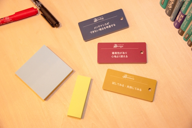 USBモデルに準拠し、開発、デザイン、ビジネスそれぞれの検討に使えるカードを用意
