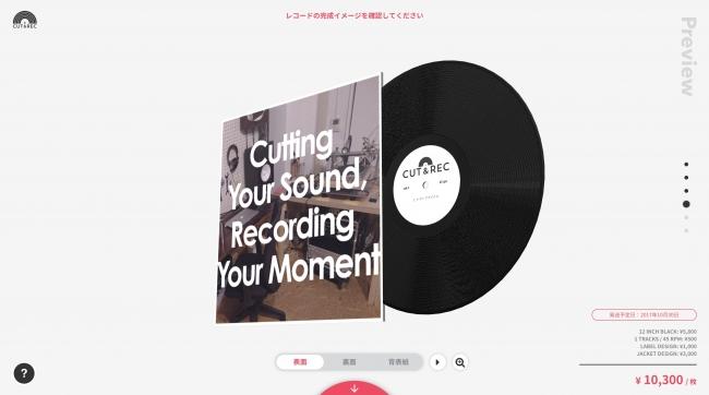 レコードの完成イメージは、  360° の3Dプレビューで確認できます。