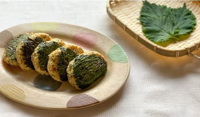 「薬膳レシピ」による調理例 紫蘇入りハンバーグ