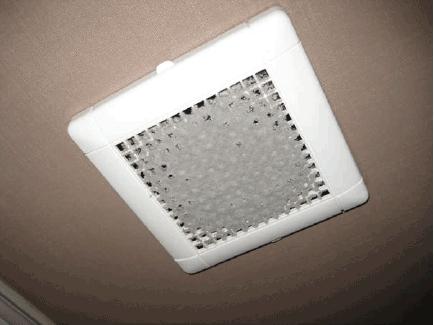 24時間強制的に換気しているため、トイレや脱衣所の換気扇は気づけばこんなにホコリが・・・