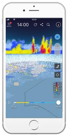 ゲリラ豪雨検知アプリ『3D雨雲ウォッチ』に落雷情報を追加!