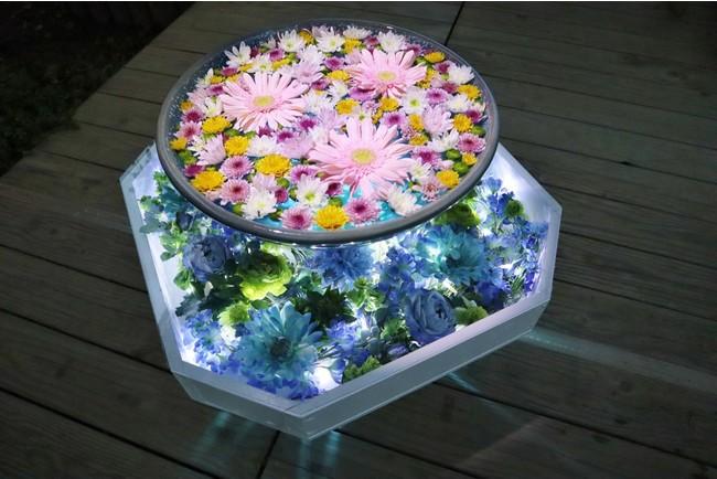 光の花手水 2