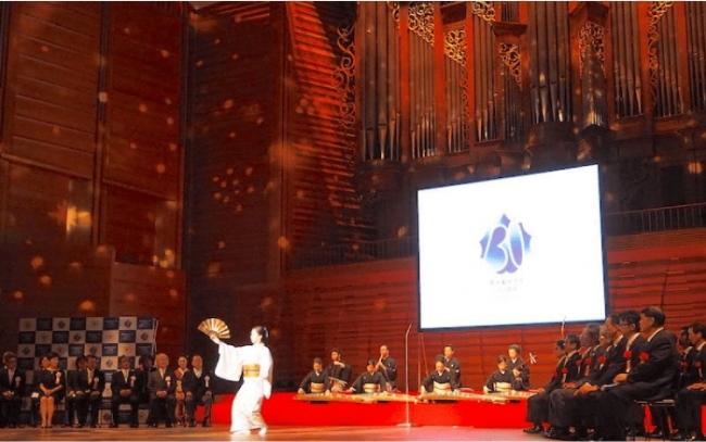 邦楽科教員・生徒の方々による演奏と日本舞踊で華やかスタート