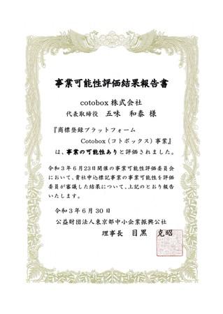 (公財)東京都中小企業振興公社事業可能性評価事業報告書