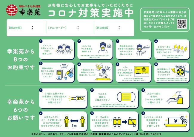 「8つのお約束」「6つのお願い」ポスター掲示