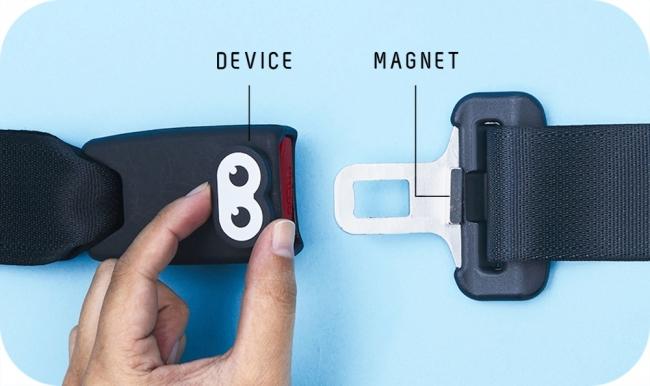 デバイスと専用磁石をセット