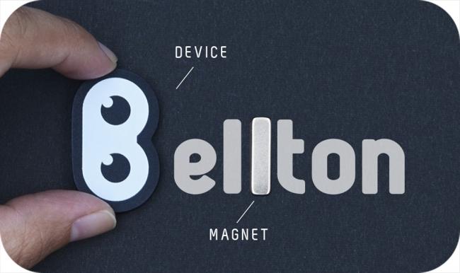 パッケージの中にデバイスと専用磁石