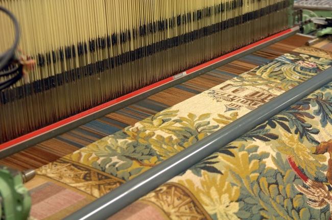 タペストリー織り風景