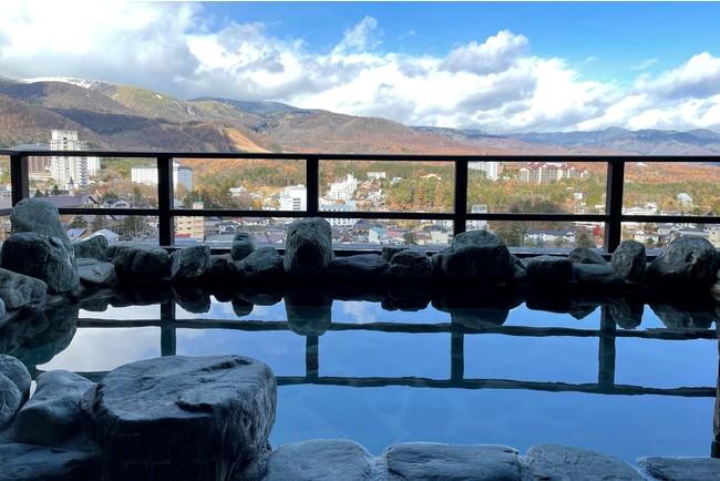 最上階の眺望浴場