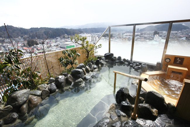 最上階の展望露天風呂