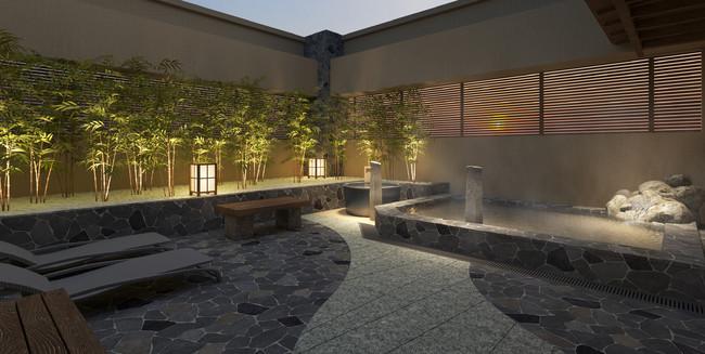 最上階の天然温泉大浴場(イメージ)