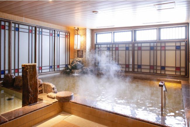 最上階の天然温泉大浴場