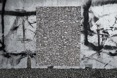 自主制作作品「Graffiti  Stickers」(小林一毅)