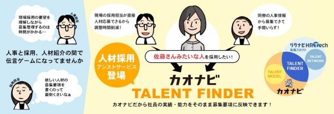 次世代人材採用アシストサービス「TALENT FINDER」開発リクルートキャリア「リクナビHRTech 転職スカウト」と連携し8月23日(木)よりサービス開始