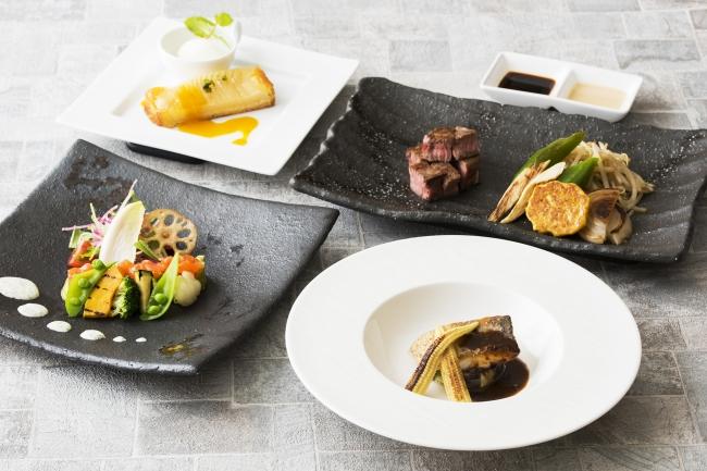 鉄板焼「山彦」秋の美食ランチ「健美」イメージ写真