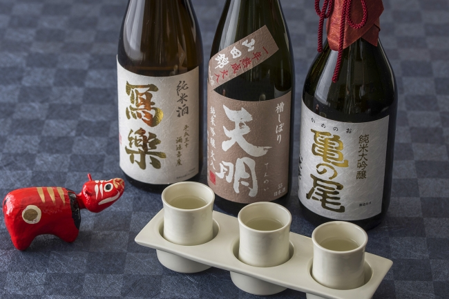 日本料理「平川」会津利き酒セット平川御膳イメージ