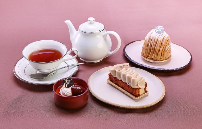 和栗のケーキセット イメージ写真