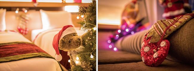 クリスマスモチーフを散りばめた、遊び心あふれる特別ルーム