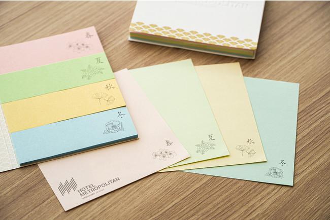 鎌倉の四季をイメージしたオリジナルの付箋とメモ帳