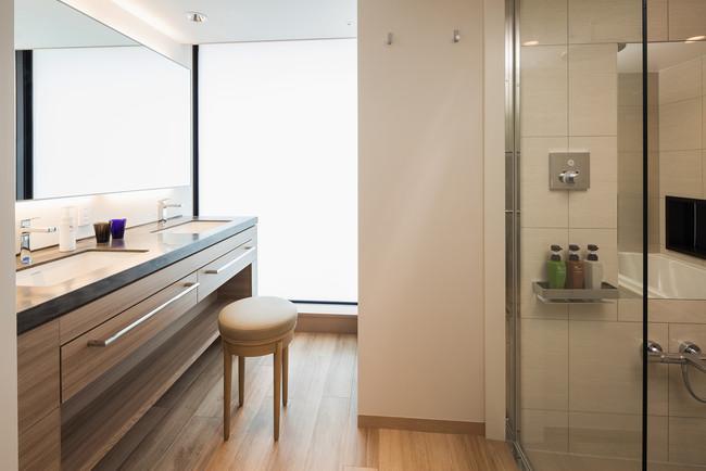 プレミアムコーナーダブルの洗面スペース