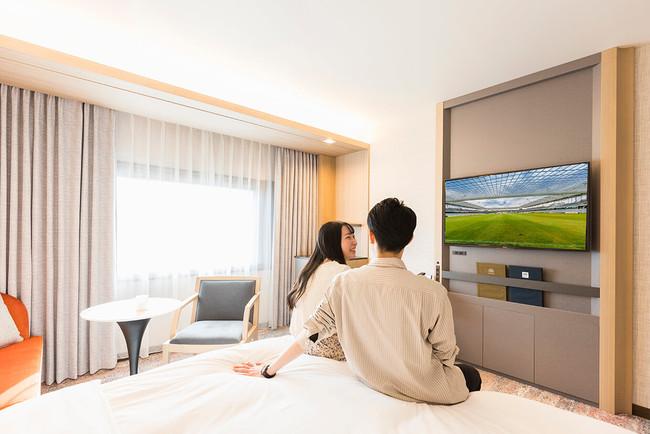 大画面4Kテレビを有する「エドモントスーペリアルーム」イメージ
