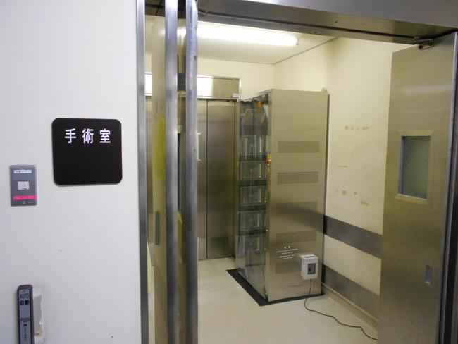 聖マリアンナ医科大学 緊急手術室前室に設置