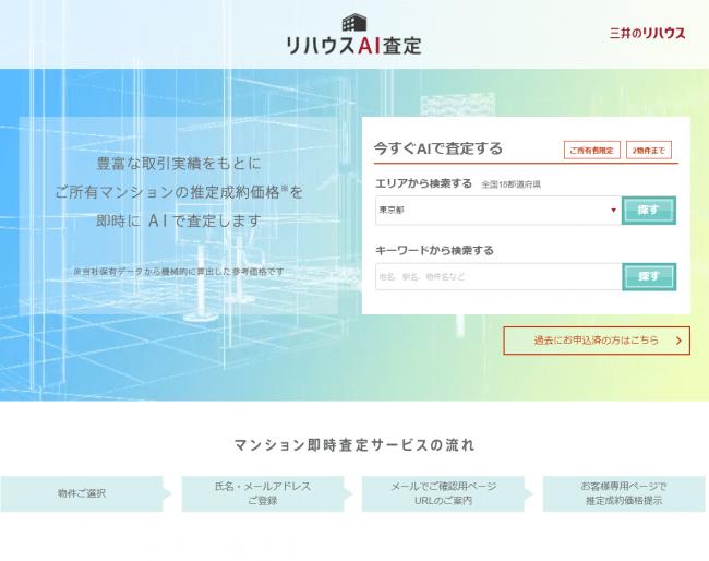 <「リハウスAI査定」イメージ>