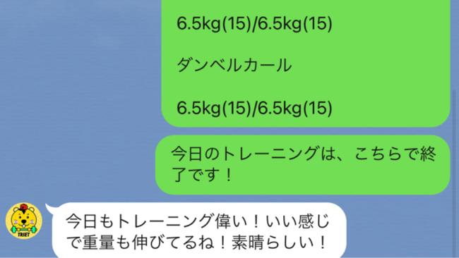 例)トレーニングの結果報告