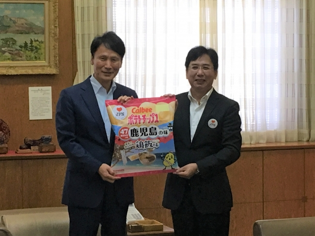 10月10日、鹿児島県庁にて知事表敬を行いました