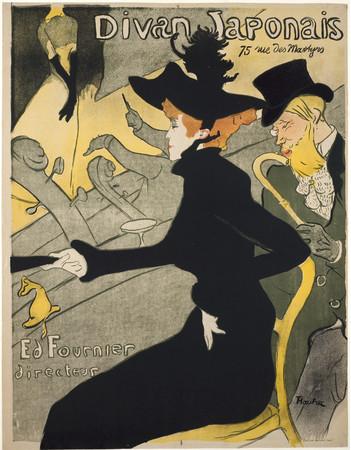 アンリ・ド・トゥールーズ=ロートレック《ディヴァン・ジャポネ》1893年