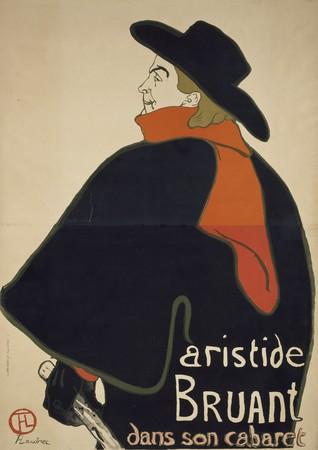 アンリ・ド・トゥールーズ=ロートレック《アリスティド・ブリュアン、彼のキャバレーにて》1893年