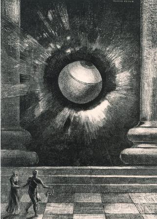 オディロン・ルドン《『夢のなかで』VIII. 幻視》1879年 三菱一号館美術館蔵