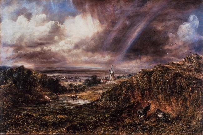ジョン・コンスタブル《虹が立つハムステッド・ヒース》 1836 年、油彩/カンヴァス、テート美術館蔵 (C)Tate