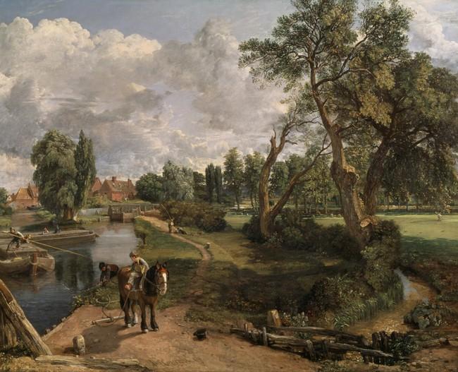 ジョン・コンスタブル《フラットフォードの製粉所(航行可能な川の情景)》1816 -17 年、油彩/カンヴァス、テート美術館蔵 (C)Tate