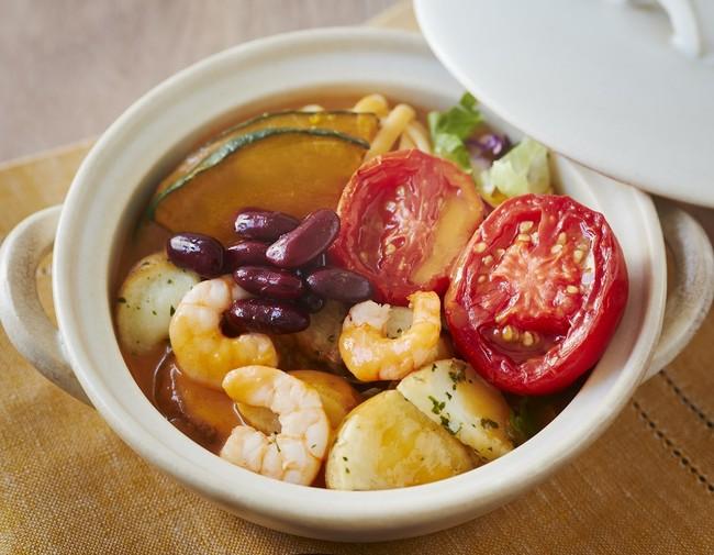 ごちそうトマトと海老のSalad鍋