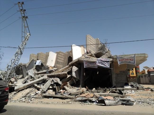 2019年に空爆された建物