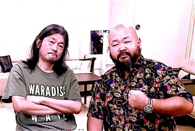 左:東京キララ社・中村保夫氏 右:東京ダイナマイト・ハチミツ二郎氏