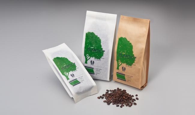 PLANTIC<プランティック>を使用したコーヒーパウチ