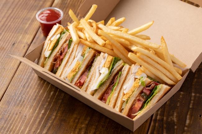 クラブハウスサンドイッチ フレンチフライ添え