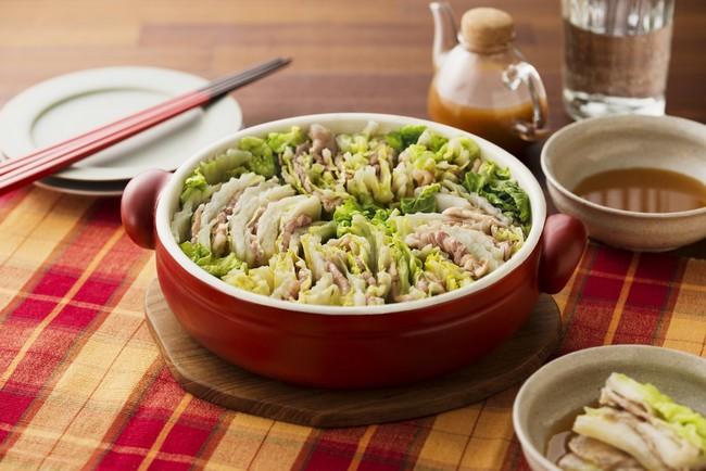 調理例:豚肉と白菜のミルフィーユ鍋