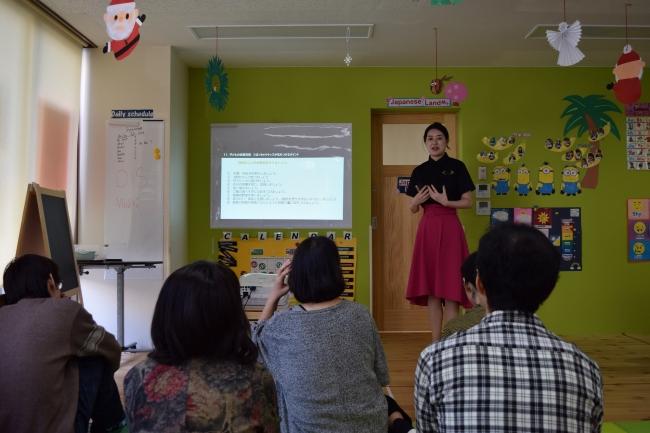 管理栄養士による栄養バランスや効果的な食事法などの食育教室