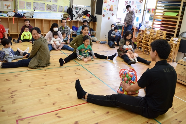 RIZAP KIDSトレーナーによる親子で楽しむ体操教室